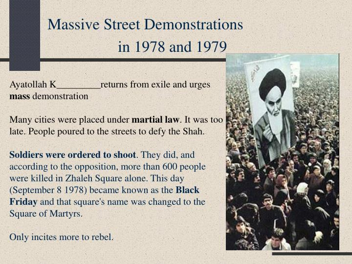 Massive Street Demonstrations