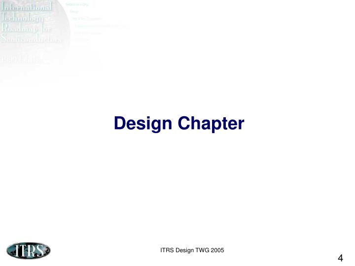 Design Chapter