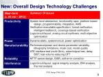 new overall design technology challenges