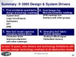 summary 2005 design system drivers