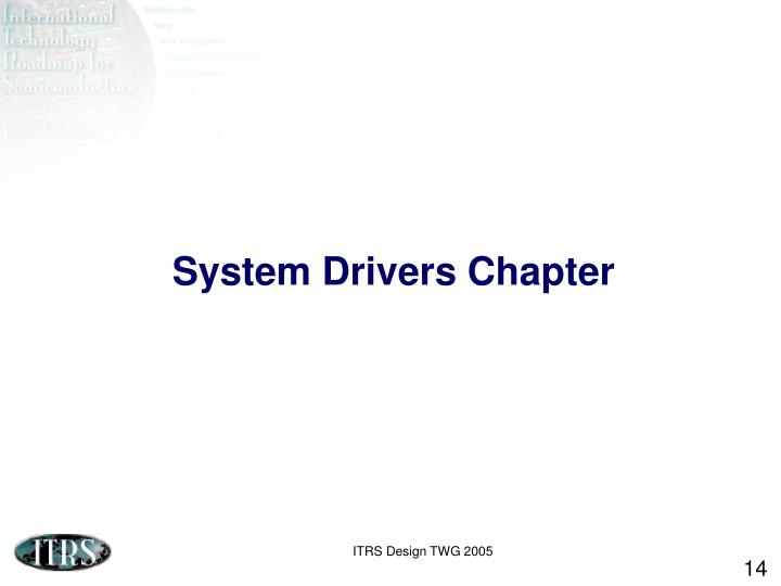 System Drivers Chapter