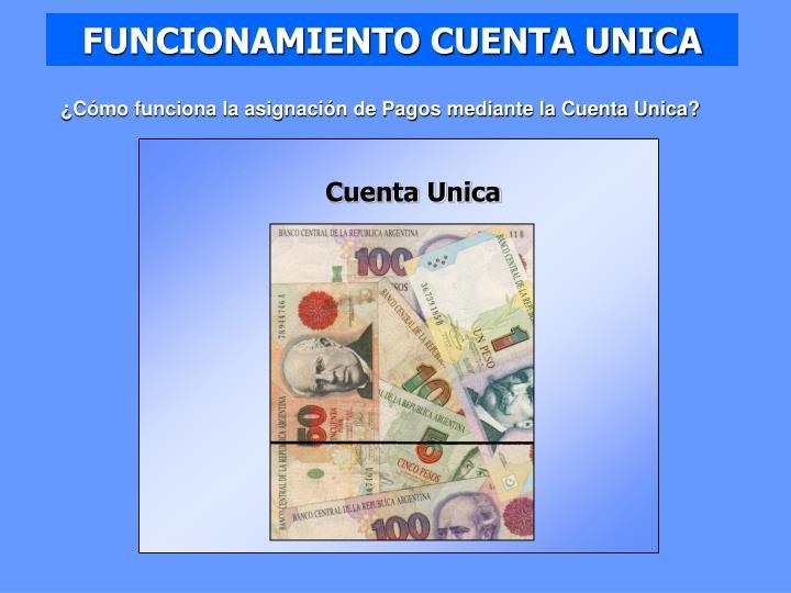 FUNCIONAMIENTO CUENTA UNICA