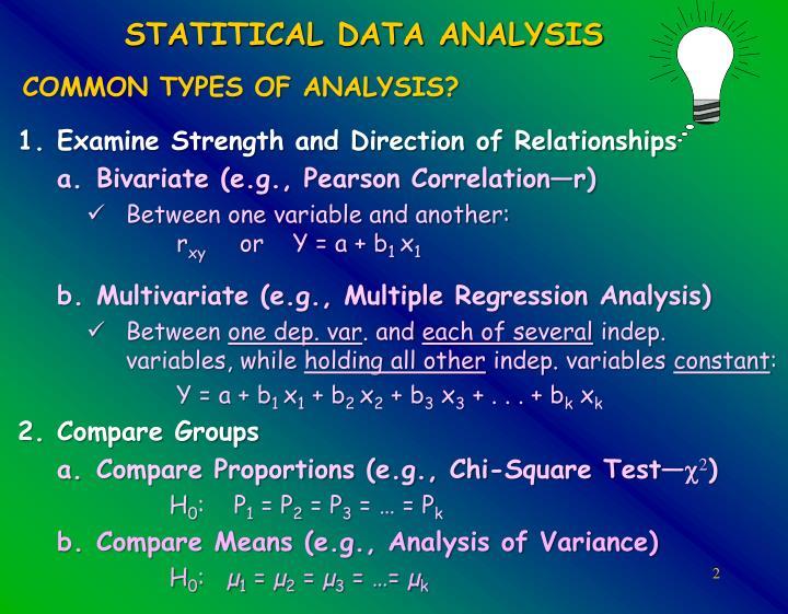 STATITICAL DATA ANALYSIS