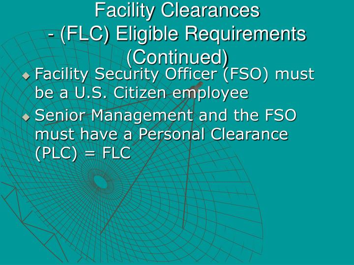 Facility Clearances