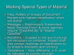 marking special types of material