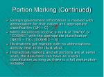 portion marking continued