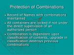 protection of combinations