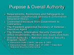 purpose overall authority