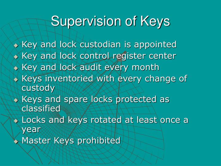 Supervision of Keys