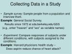 collecting data in a study