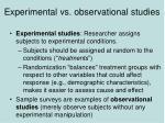 experimental vs observational studies