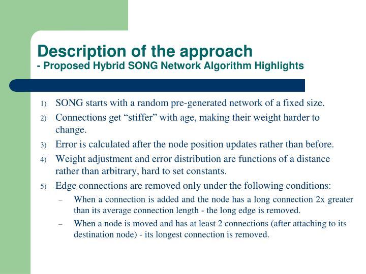 Description of the approach