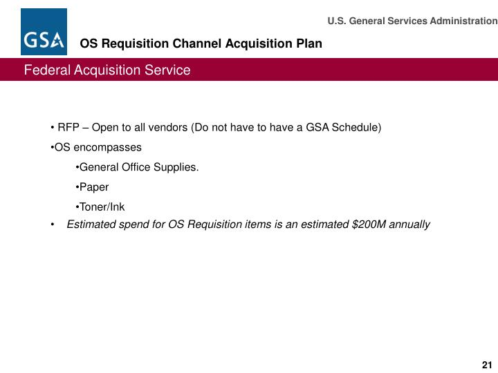 RFP – Open to all vendors (Do not have to have a GSA Schedule)