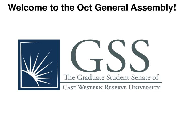 Welcome to the Oct General Assembly!