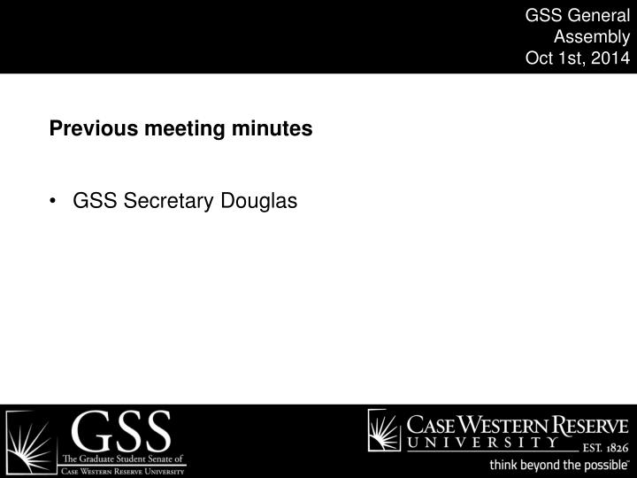 GSS General Assembly