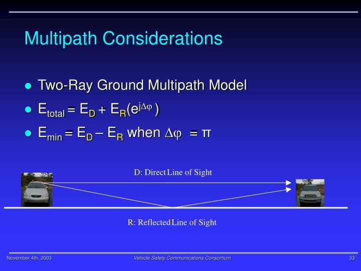 Multipath Considerations
