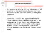 level of measurement 3