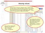 missing values