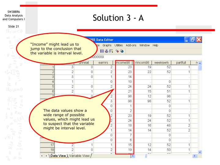 Solution 3 - A