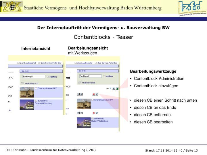 Contentblocks - Teaser