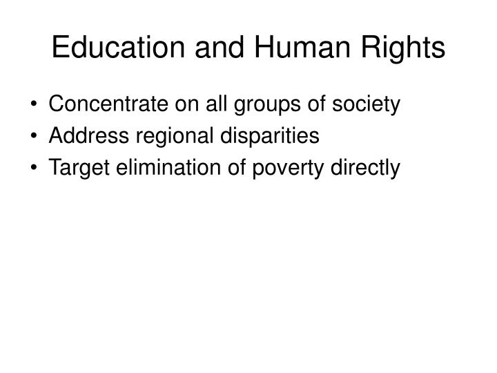 Education and Human Rights