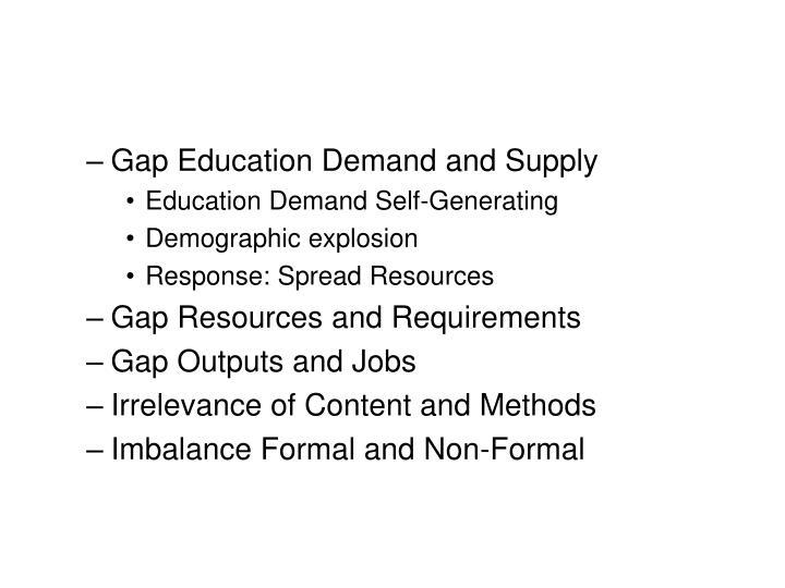 Gap Education Demand and Supply