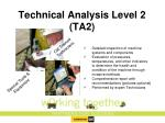 technical analysis level 2 ta2