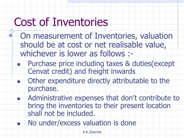 Cost of Inventories