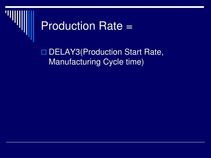 Production Rate =