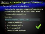 acceptable types of cohesion 2