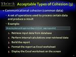 acceptable types of cohesion 3