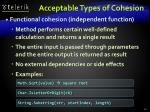 acceptable types of cohesion