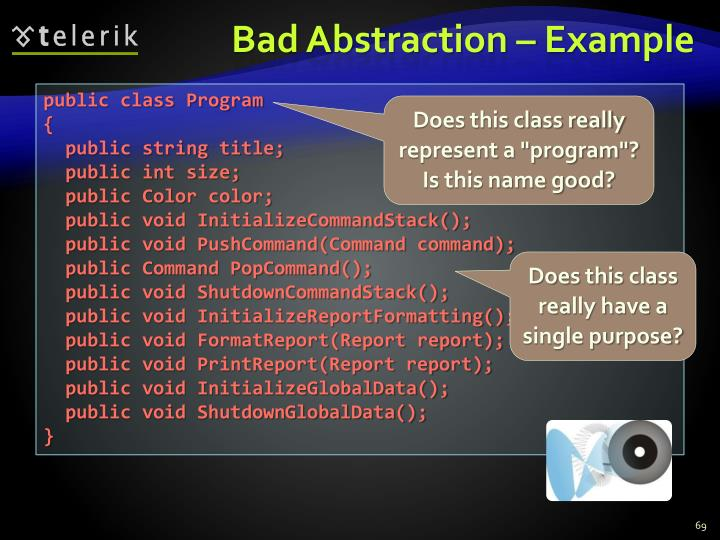 Bad Abstraction – Example