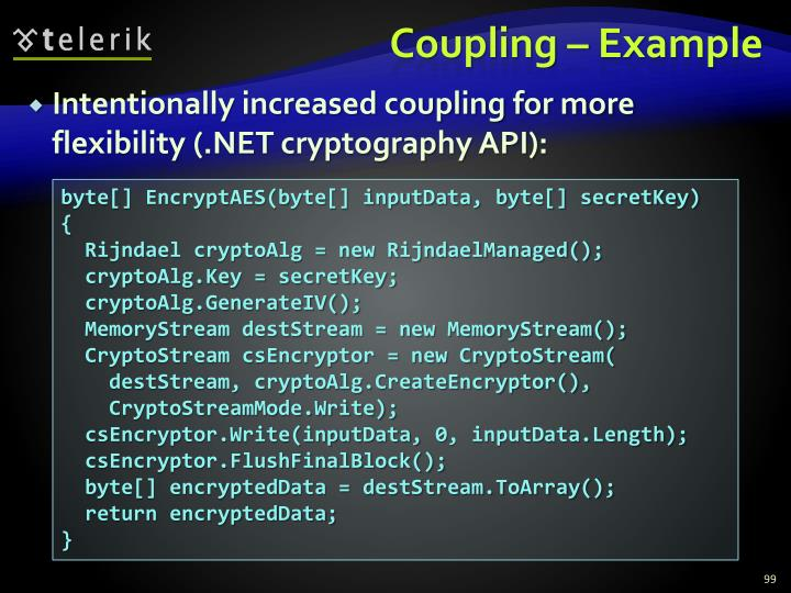Coupling – Example