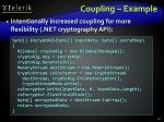 coupling example