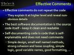 effective comments