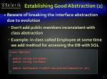 establishing good abstraction 2