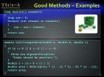 good methods examples