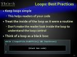 loops best practices