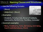 naming classes and structures