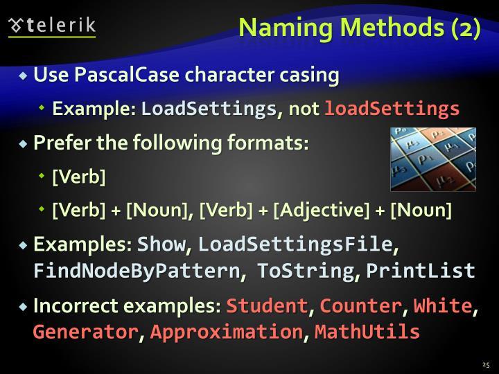 Naming Methods (2)