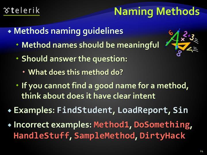 Naming Methods