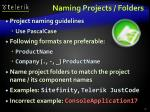 naming projects folders