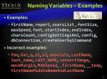 naming variables examples