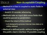 non acceptable coupling