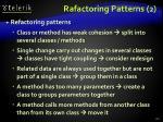 rafactoring patterns 2