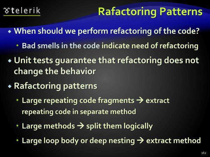 Rafactoring Patterns