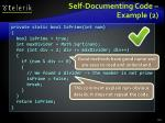 self documenting code example 2