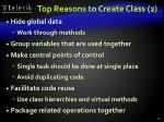 top reasons to create class 2