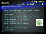 turning magic numbers into constants